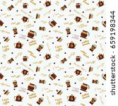 coffee pattern background. for...   Shutterstock .eps vector #659198344