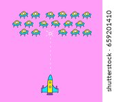 space ship invaders shooting... | Shutterstock .eps vector #659201410