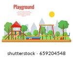 children's playground vector... | Shutterstock .eps vector #659204548