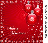 christmas in red | Shutterstock .eps vector #65920465