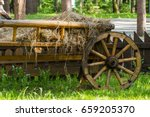 The Country Yard. Wooden Cart...