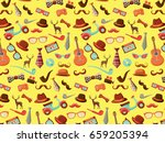 hipster package pattern. urban... | Shutterstock .eps vector #659205394