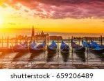 sunrise in san marco square ... | Shutterstock . vector #659206489