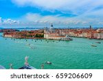 venice grand canal  basilica...   Shutterstock . vector #659206609
