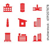 perspective icons set. set of 9 ... | Shutterstock .eps vector #659207878