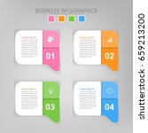 infographic template of four... | Shutterstock .eps vector #659213200
