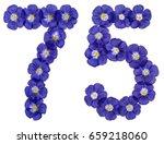 Arabic Numeral 75  Seventy Fiv...