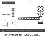 railroad barrier vector line... | Shutterstock .eps vector #659222383