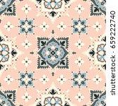 boho flower pattern | Shutterstock .eps vector #659222740