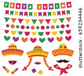 festa junina  june party ... | Shutterstock .eps vector #659234446