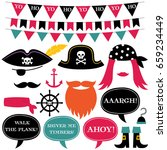 pirate vector decoration and... | Shutterstock .eps vector #659234449