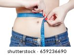 slim female with perfect... | Shutterstock . vector #659236690