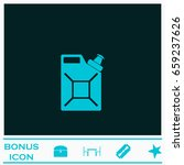 canister icon flat. blue...