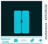 double door icon flat. blue... | Shutterstock .eps vector #659238130