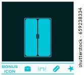 wardrobe or cupboard icon flat. ... | Shutterstock .eps vector #659238334