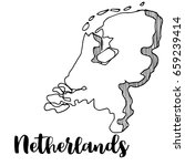 hand drawn of netherlands map ... | Shutterstock .eps vector #659239414