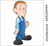 character man from the cartoon | Shutterstock .eps vector #659239999