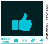 hand thumb up icon flat. blue... | Shutterstock .eps vector #659241520