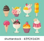 collection of 8 tasty ice... | Shutterstock .eps vector #659241634