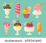 collection of 8 tasty ice...   Shutterstock .eps vector #659241640