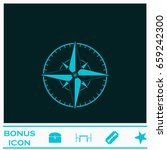 compass icon flat. blue... | Shutterstock .eps vector #659242300