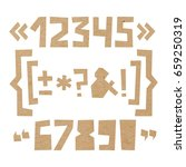 rough numbers and symbols... | Shutterstock .eps vector #659250319