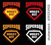 set super son logo superhero... | Shutterstock .eps vector #659251933