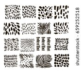 set of vector ink texture...   Shutterstock .eps vector #659252518
