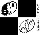 Yin Yang. Vector Logo In The...