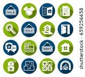 set of real estate   property... | Shutterstock .eps vector #659256658