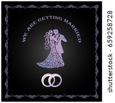 we are getting married template ...   Shutterstock .eps vector #659258728