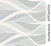 wavy linear pattern  leaves ... | Shutterstock .eps vector #659264314