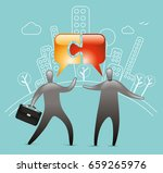 networking connections | Shutterstock .eps vector #659265976