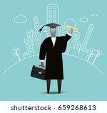 city graduate   Shutterstock .eps vector #659268613
