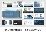original presentation templates ... | Shutterstock .eps vector #659269420