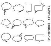 talking bubble set   Shutterstock .eps vector #65926963