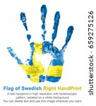 imprint of right hand in the... | Shutterstock . vector #659275126