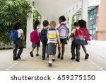 group of diverse kindergarten... | Shutterstock . vector #659275150