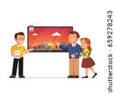 seller or shop assistant... | Shutterstock .eps vector #659278243