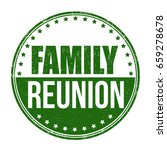 family reunion sign or stamp on ... | Shutterstock .eps vector #659278678