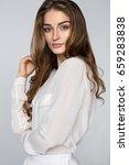 beauty portrait of female face... | Shutterstock . vector #659283838