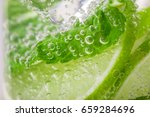 detox water with lime and mint... | Shutterstock . vector #659284696