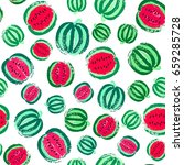 watermelon background. fruit... | Shutterstock .eps vector #659285728