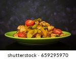 stir fry chicken  zucchini and...