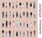 diversity people set gesture... | Shutterstock . vector #659296210