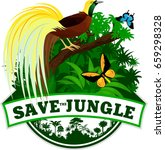 vector jungle emblem with ... | Shutterstock .eps vector #659298328