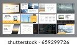 original presentation templates ... | Shutterstock .eps vector #659299726