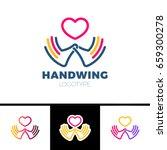 heart in hand symbol  sign ... | Shutterstock .eps vector #659300278