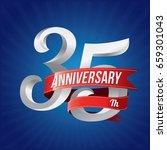 35 years anniversary...   Shutterstock .eps vector #659301043