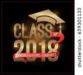 class of 2018 congratulations... | Shutterstock .eps vector #659301133